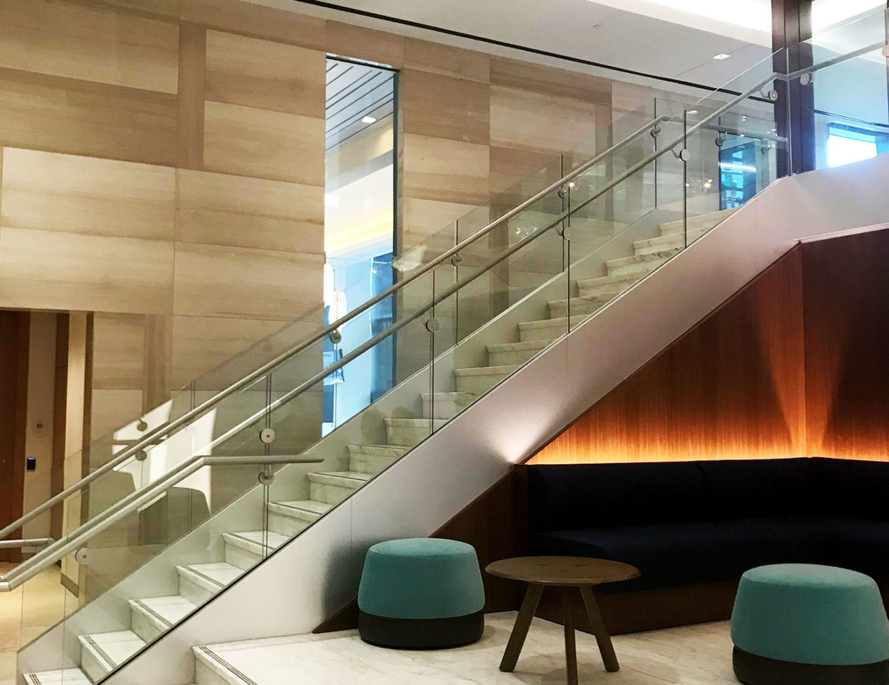 Base Shoe Commercial Glass Railing Trex Commercial Products | Frameless Glass Stair Railing | Metal | Seamless Glass | Handrail | Framed Glass | Office