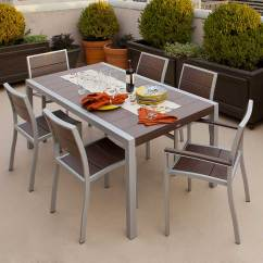 Bar Height Kitchen Table Aide Attachments Get The Right For Outdoor Stools Trex Furniture Surf City