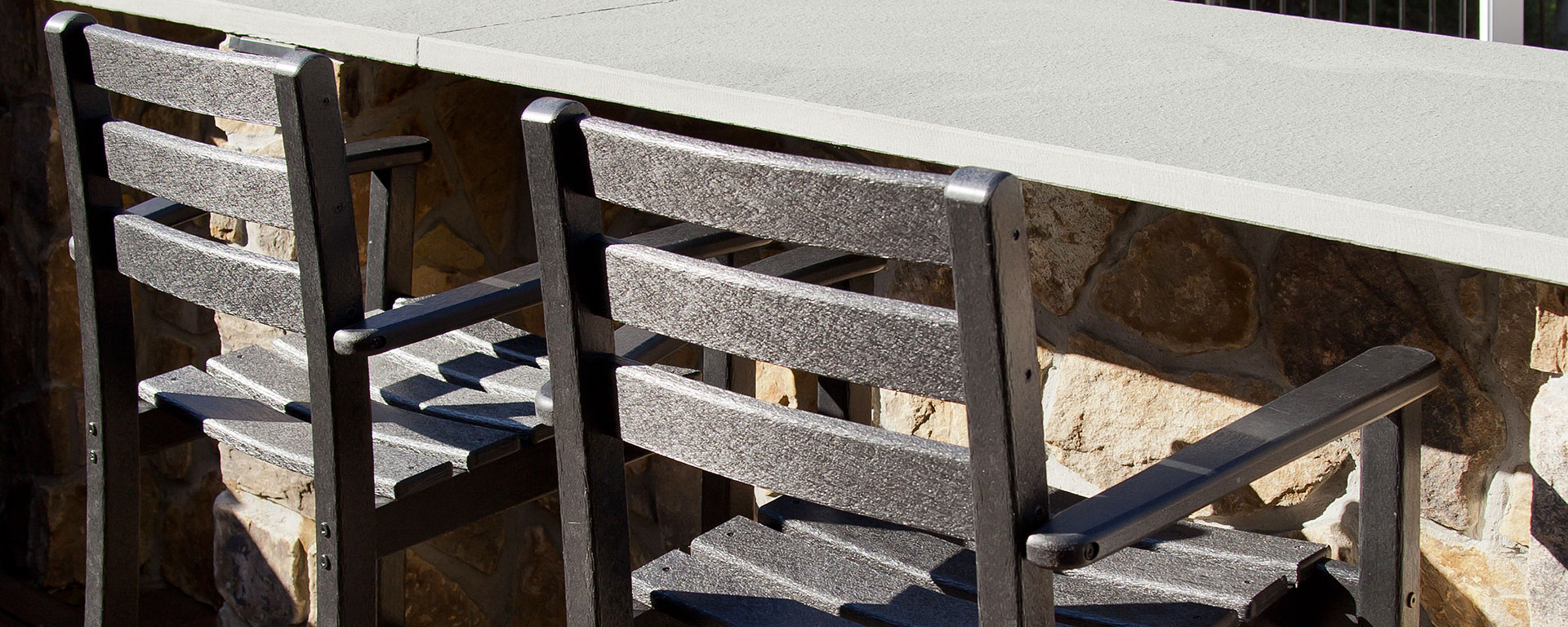 get the height right for outdoor stools