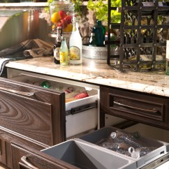 Outdoor Kitchen Drawers Cabinets Cost Per Foot Kitchens And More  Trex