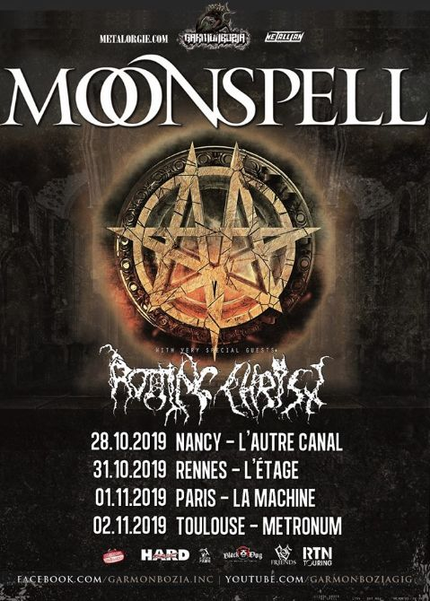 MOONSPELL et ROTTING CHRIST en tournée en France