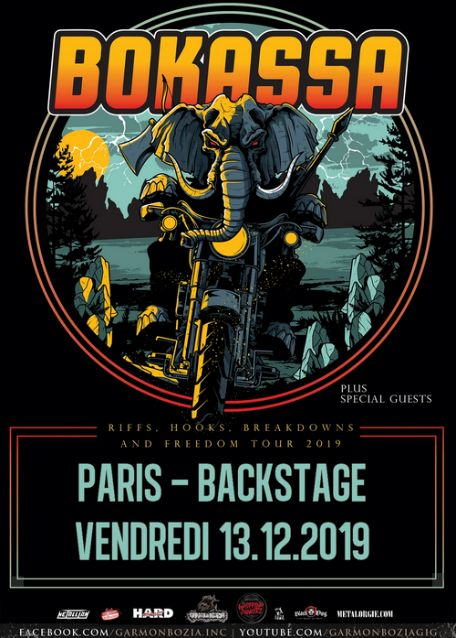 BOKASSA en concert à Paris le 13 décembre