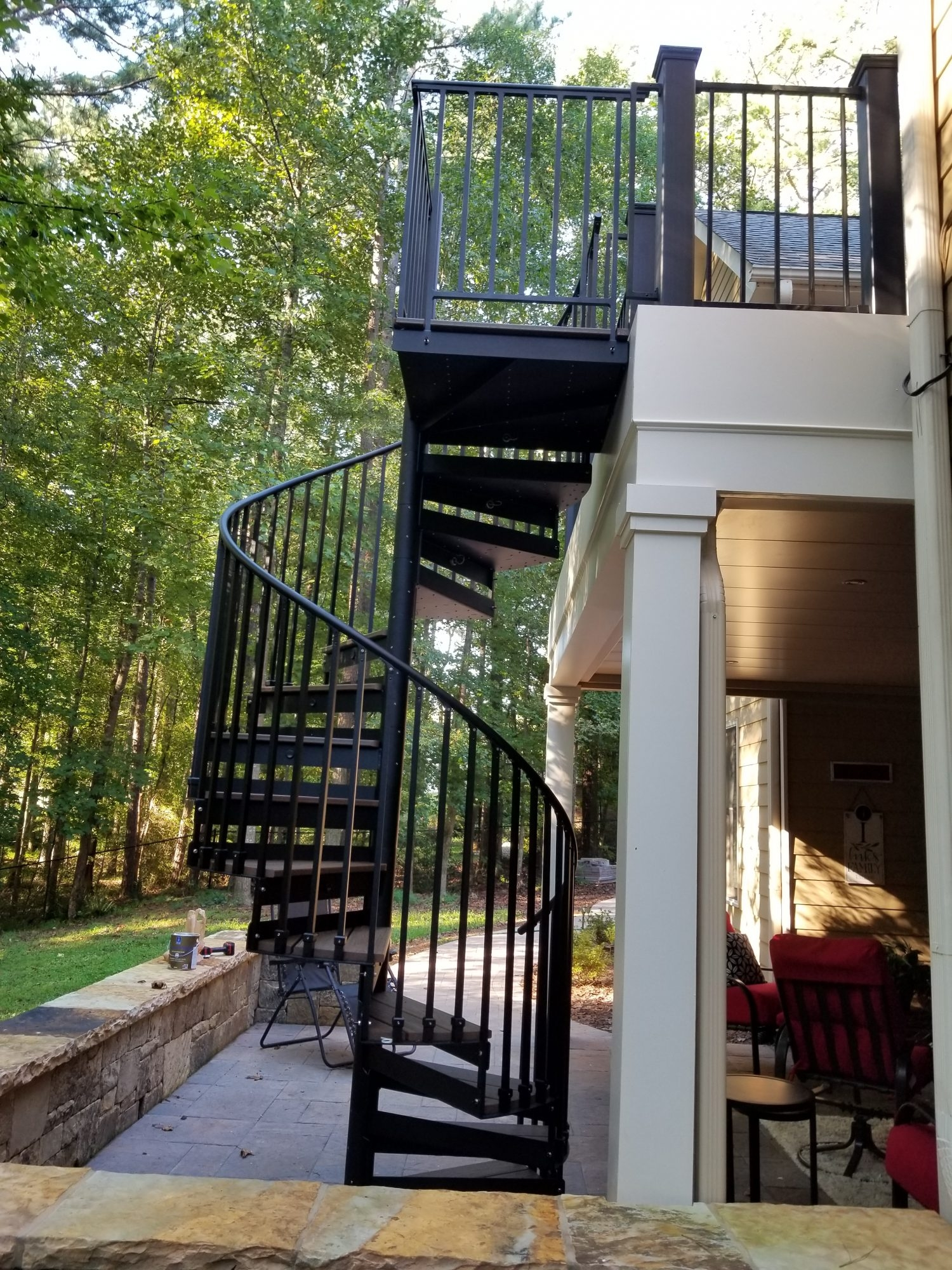 Discover The Ultimate Staircase Alternative Trex Spiral Stairs | Spiral Deck Mate Stair | Powder Coated | Stair Treads | Staircase Kits | Trex Spiral | Stair Case