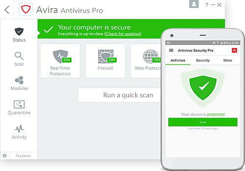 Avira Antivirus interface3 Antivirusni programi