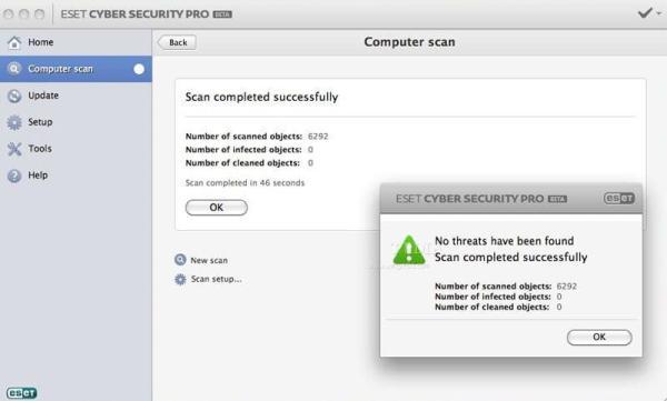 eset cyber security pro interface4 Antivirusni programi