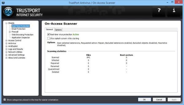 trustport interface Antivirusni programi