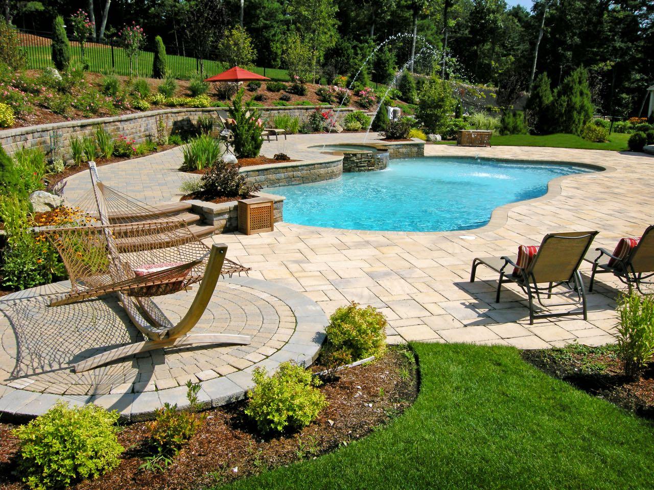 Beautiful Swimming Pool Patios  Triad Associates