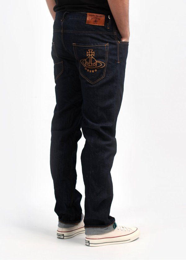 Vivienne Westwood Classic Orb Embroidered Pocket Jeans