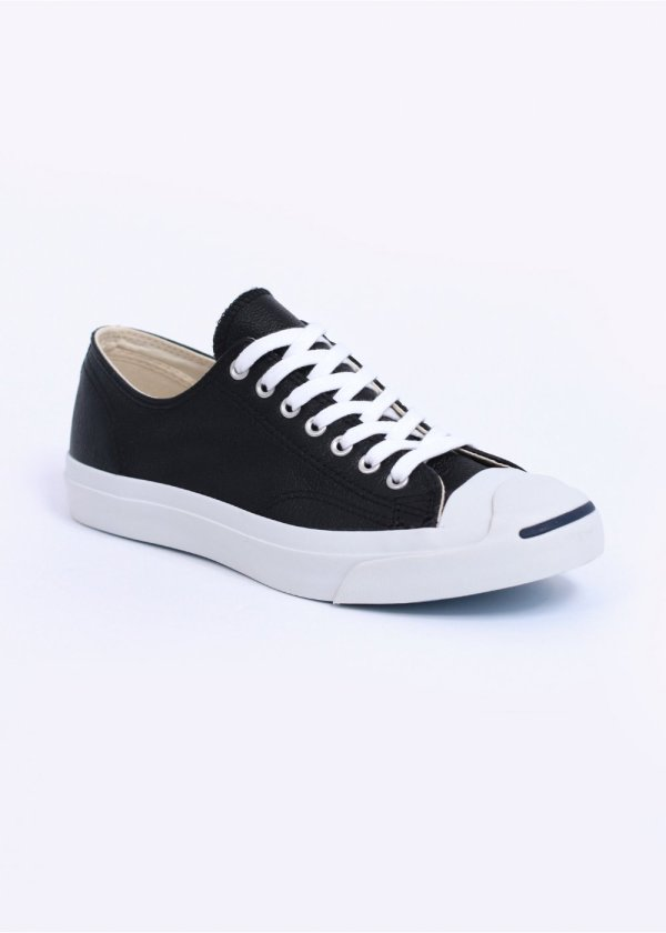 Converse Jack Purcell Leather Ox - Black White