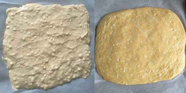 Auch ohne Backtriebmittel, Hefe oder Mehl geht der Teig optimal auf.