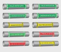 MEP Identification Labels, Pipe Marking Labels UAE