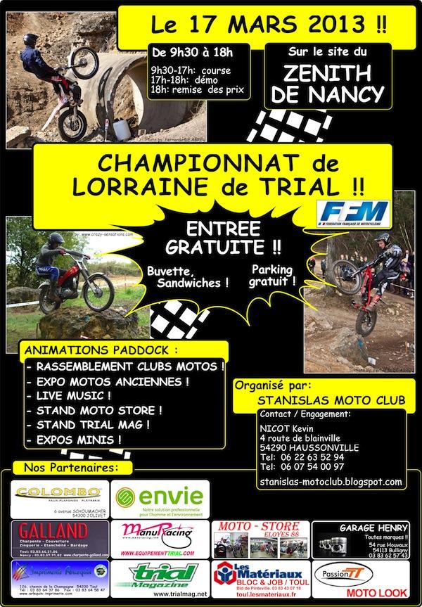 Affiche Stanislas Moto club