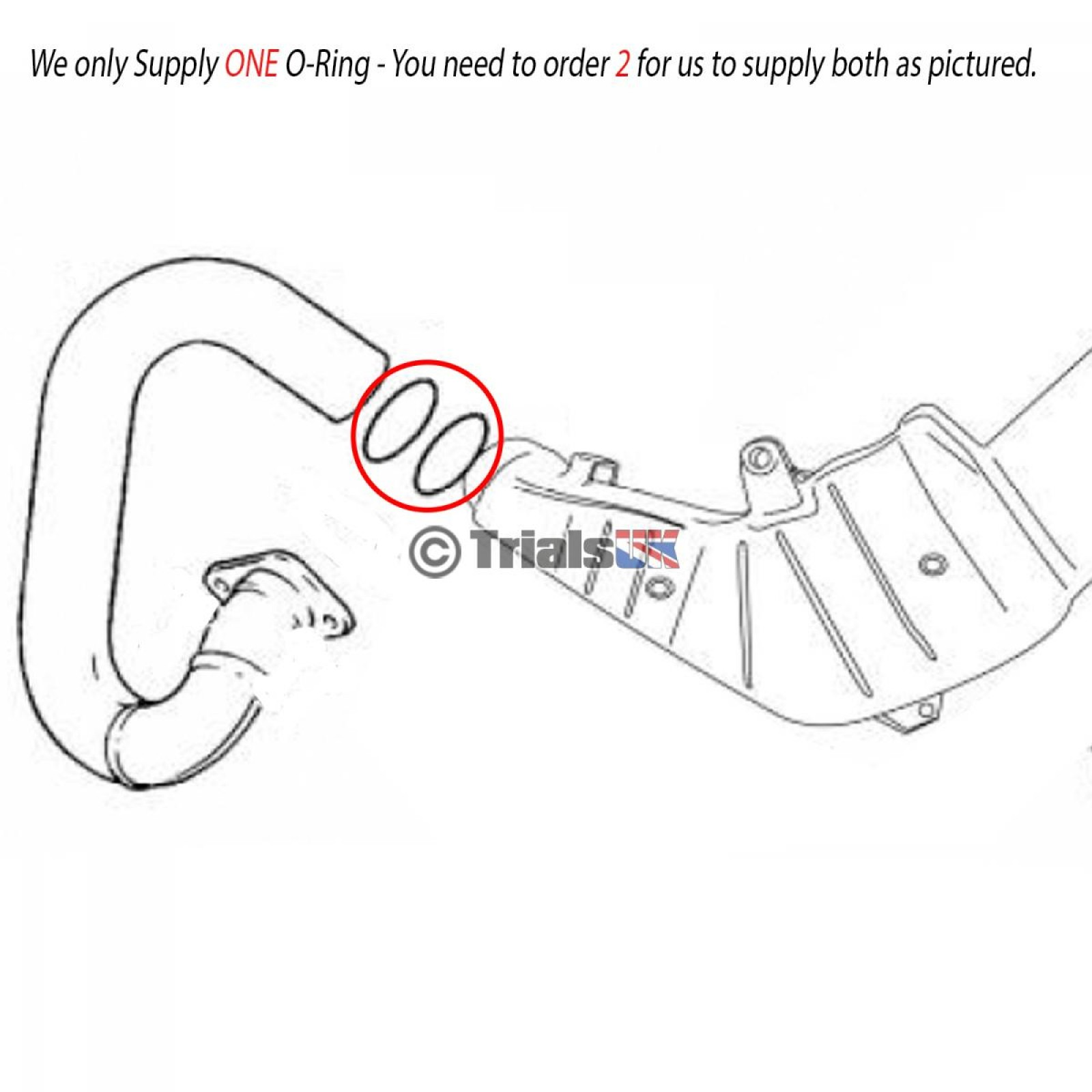 GasGas Front to Mid Box Large Exhaust O-Ring