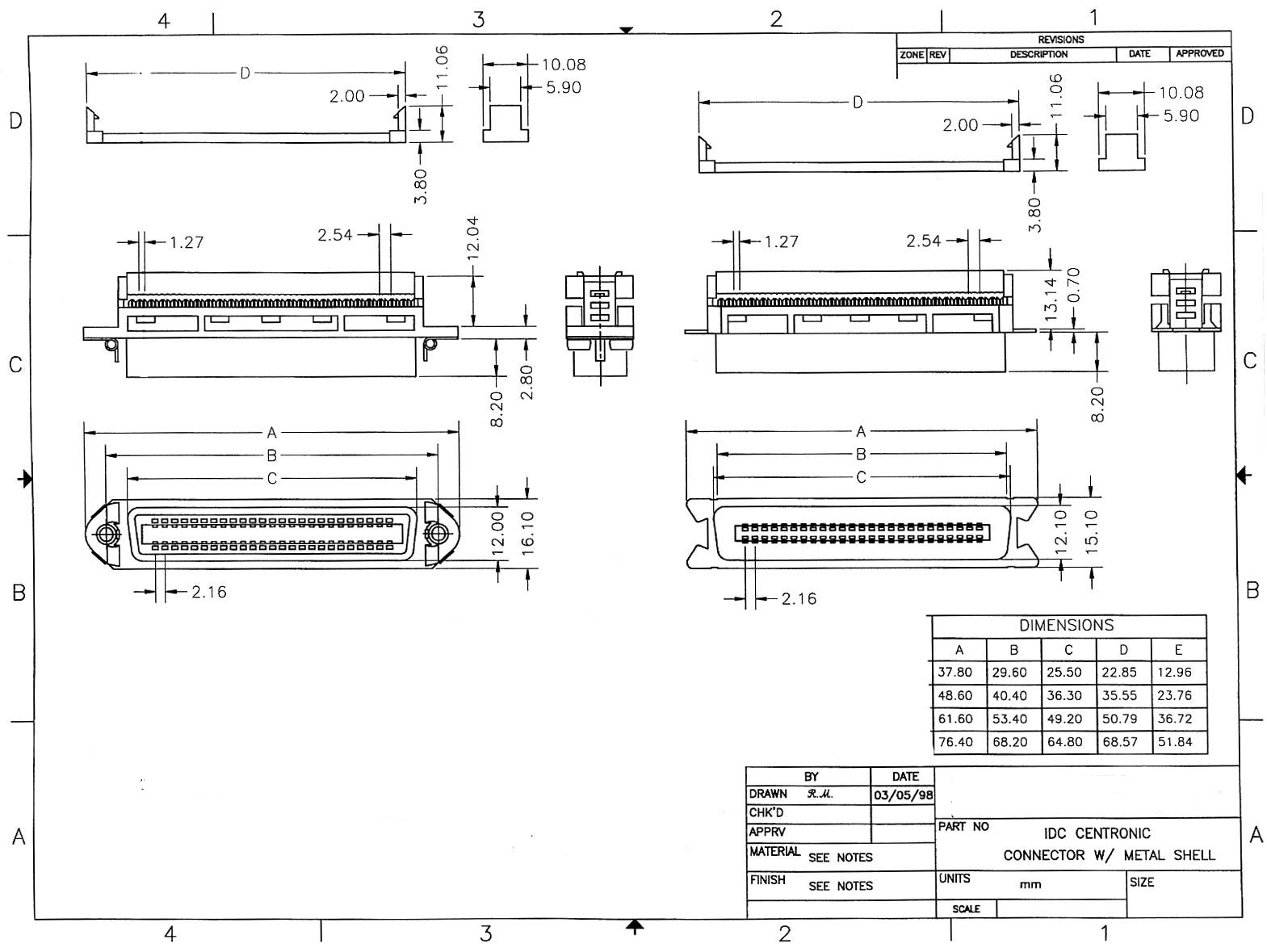 110 Block Wiring Diagram 25 Pair 50 Pin Male Centronics Connector Flat Ribbon Cable Idc