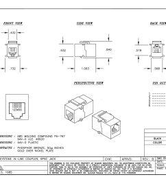 rj12 f f coupler keystone white trianglecables com cat 6 jack wiring diagram keystone fifth wheel wiring [ 1060 x 848 Pixel ]