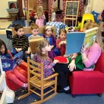 Assist parent reading to children