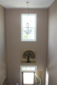 Entryway with Stairs - Triangle Precision Painting