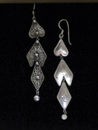 Extra Long Tibetan Jewelry Dangle Earrings made in Nepal