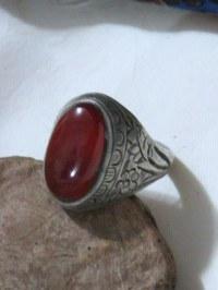 Vintage Aqeeq Yamani Men's Traditional Silver Ring