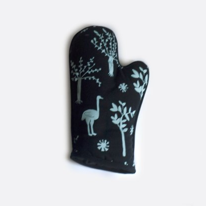 Blue Black Ostrich Art-i-San Oven Glove on sale New Zealand