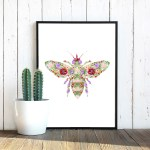 floral-bee-poster