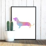 watercolor-dachshund-poster