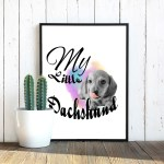 watercolor-my-little-dachshund-tongue-poster