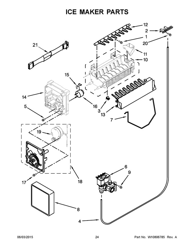 ice maker diagram balboa instruments wiring wrs325fdab05 trible s appliance model lookup for