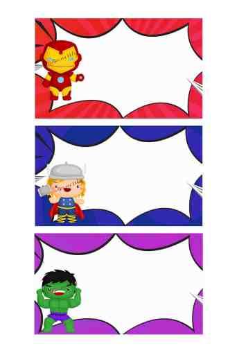 Printable: Superhero Labels