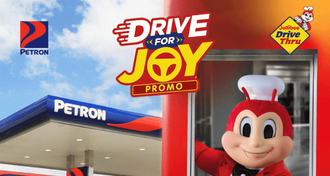 Petron partners with Jollibee in 'Drive For Joy' promo