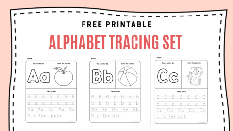 New Alphabet Tracing Set
