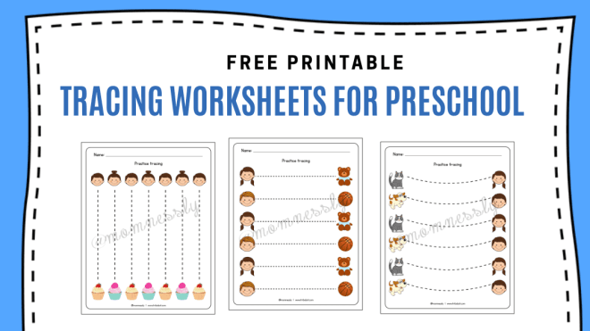 Free Tracing Worksheets for Preschool