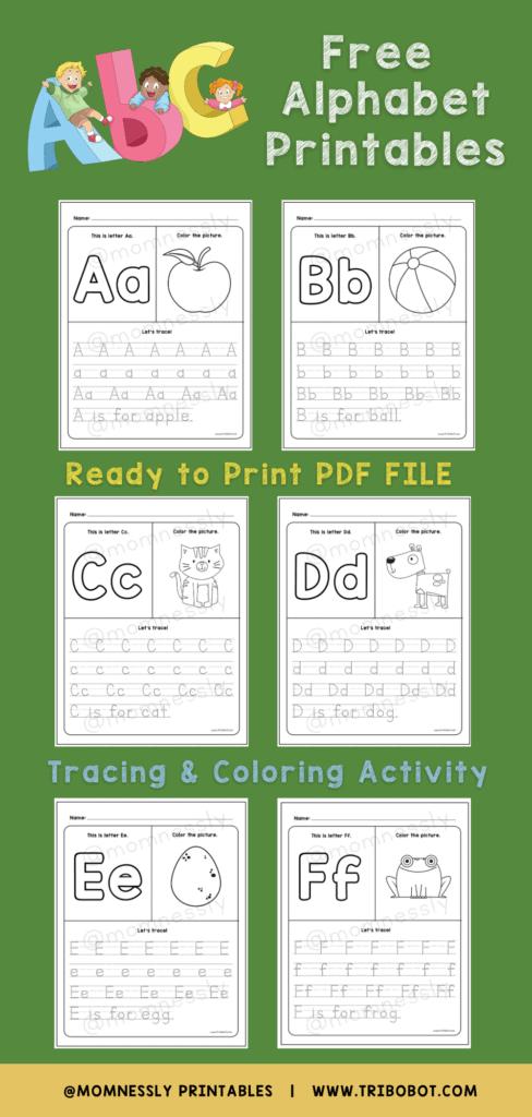 Free Printable: New Alphabet Tracing Set