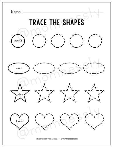 Free Printable: Trace the Shapes