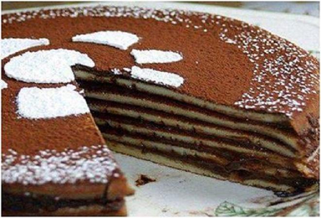 Torta di crepes al cioccolato  35