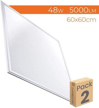 Panel Led 60x60 para techo falso 48w - 5000 Lumenes - Driver incluido