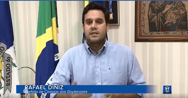 Rafael Diniz está curado da Covid-19 e retoma às atividades no gabinete