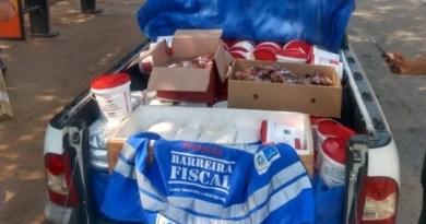 Barreira Fiscal apreende carga de pão de queijo e kits de feijoada