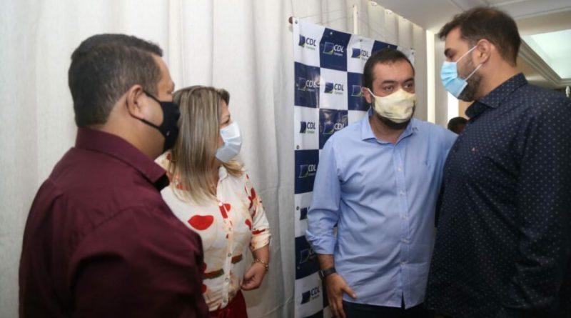 Governador Cláudio Castro garante à prefeita Francimara a conclusão da Ponte da Integração