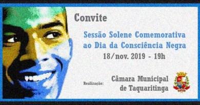 Cidadãos receberão homenagens de vereadores de Taquaritinga (SP) em comemoração ao Dia Nacional da Consciência Negra