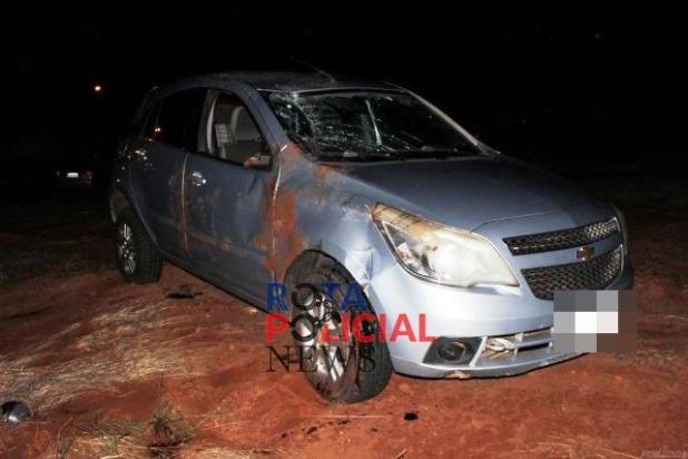 Capotamento na BR-174 deixa cinco pessoas feridas em Vilhena, entre elas duas crianças
