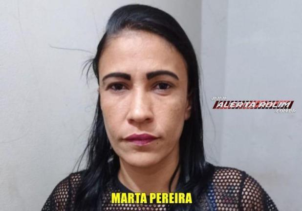 Mulher acusada de crimes de tráfico de drogas e furto é presa pela PM em Rolim de Moura