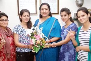 KMV students excel in GNDU results of M.Sc. Fashion Designing