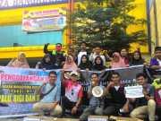 Karang Taruna Kabupaten Kampar bersama organisasi sahabat dan masyarakat menggelar aksi penggalangan dana bagi korban bencana Palu dan Donggala