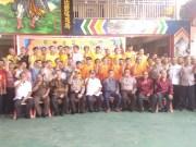 Poto bersama usai acara Deklarasi Damai pemilu 2019 di Cekong Tuah jalan perniagaan Bagansiapiapi