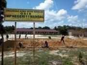 SMPN 11 Mandau Dapat Bantuan Pembangunan 6 Lokal Baru