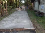 Proyek Pembangunan Semenisasi Jl.Rangau KM 5,5 Gg.Pisang Pematang Pudu Duri, terkesan asal jadi, karena luput dari pengawas kegiatan.