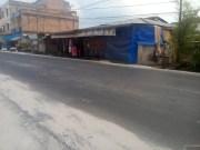 Penampakan aspal yang tidak merata di Jalan Syech Umar Pangkalan Sesai Kota Dumai