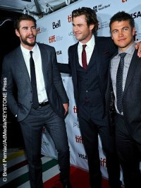 The Hemsworth brothers - Liam, Chris, and Luke - bond on ...