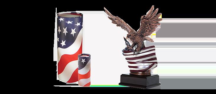 Patriotic Urns
